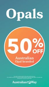 50% off selected Opals